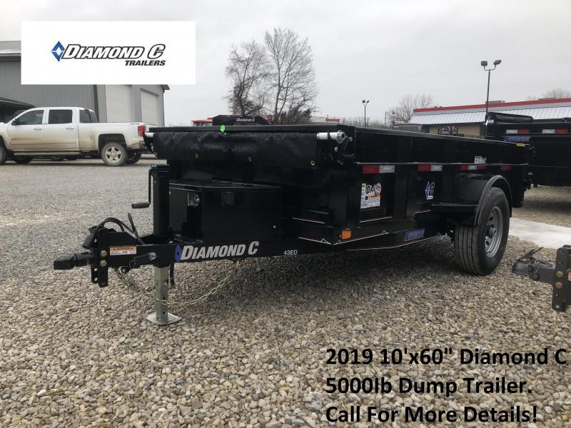 "2019 10'x60"" 5K Diamond C Dump Trailer. 9634"