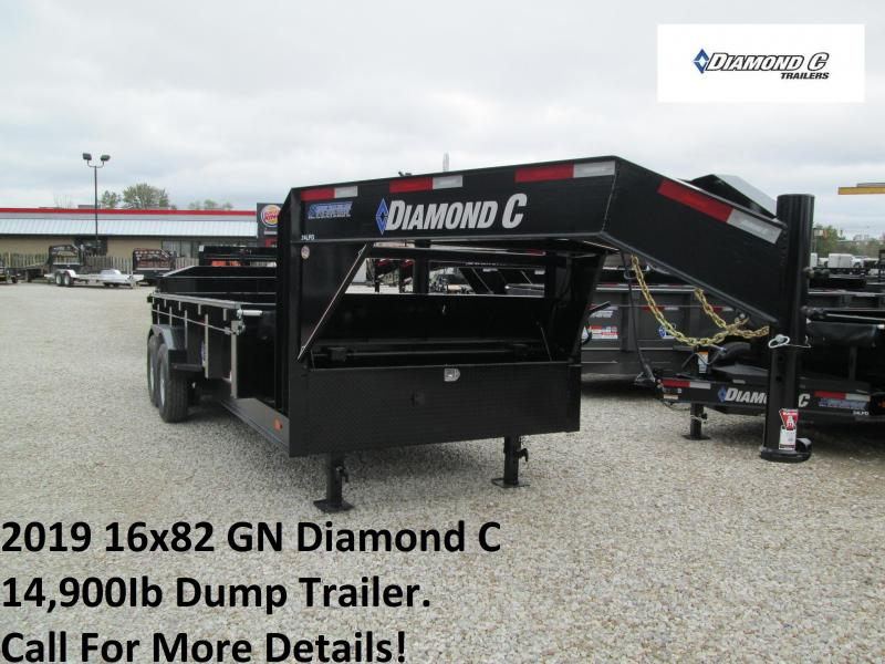 2019 16x82 14.9K GN Diamond C Dump Trailer. 5400