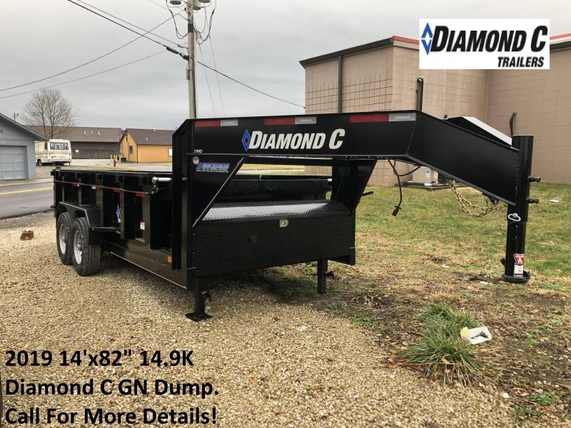 "2019 14'x82"" 14.9K Diamond C GN Dump Trailer. 6598"