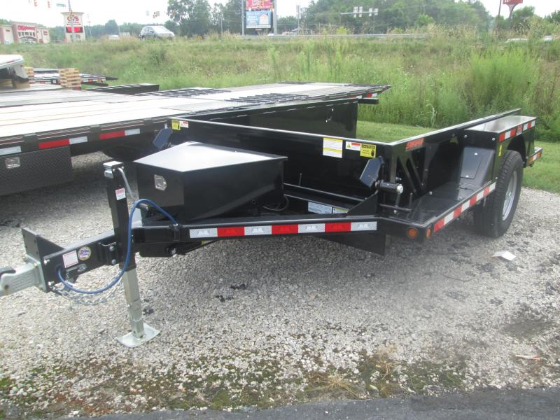 "2019 76""x10' 7k Behnke Drop-Down Utility Trailer. 49475"