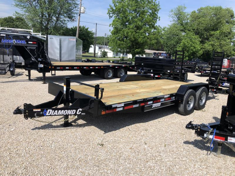 "2018 18'+2'x82"" 14k Diamond C Equipment Trailer. 2046"