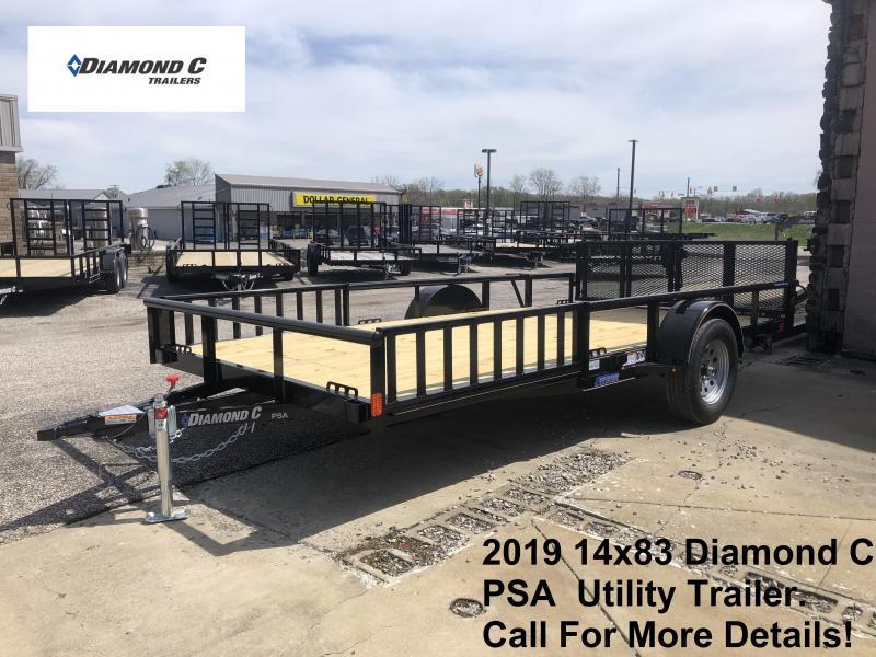 2019 14x83 Diamond C Utility Trailer. 13603
