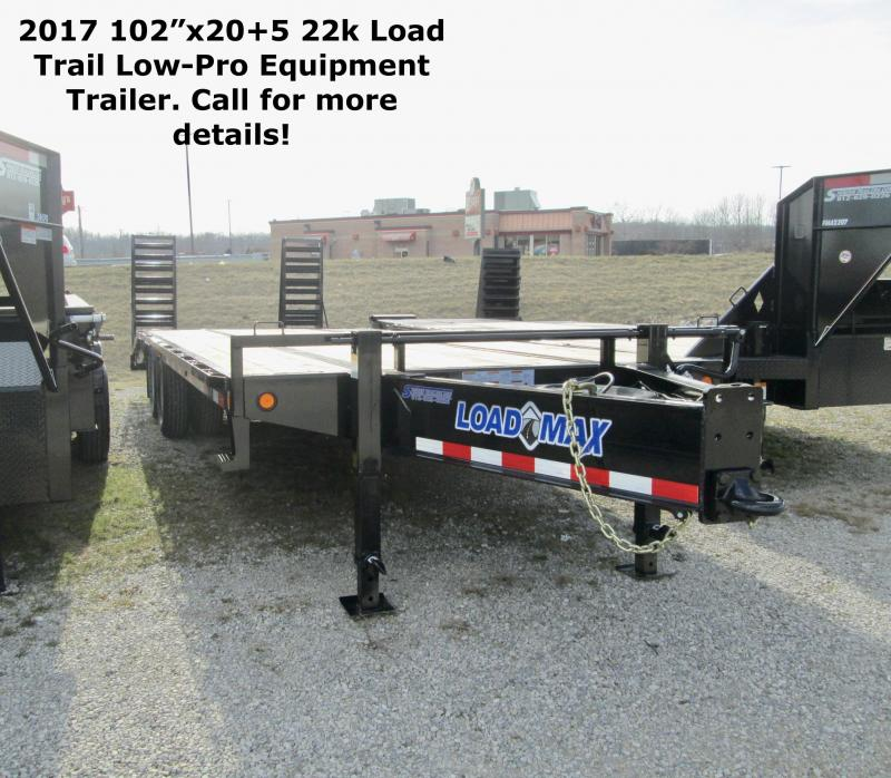 "2017 102""x20+5 22k Load Trail Low-Pro Equipment Trailer. 29630"