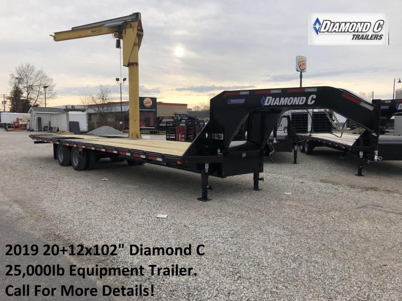 "2019 20+12x102"" Diamond C Equipment Trailer. 7057"
