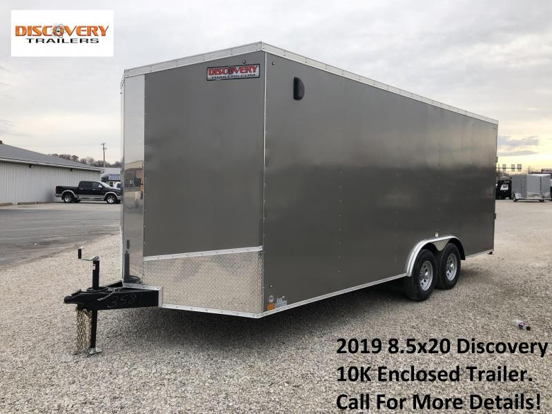 2019 8.5x20 10K Discovery Enclosed Trailer. 3581