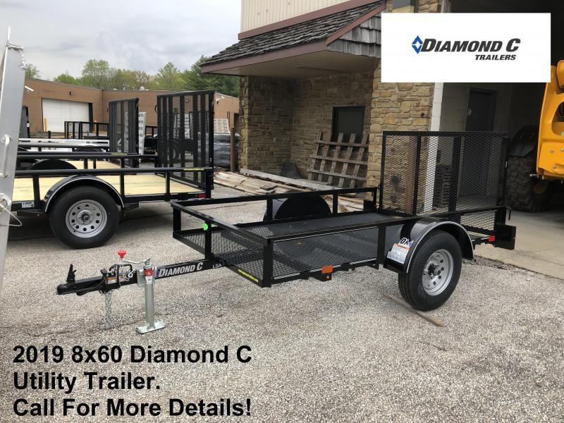 2019 8x60 Diamond C Utility Trailer. 13797