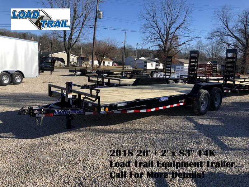 "2018 20'+2' x 83"" 14K Load Trail Equipment Trailer. 56334"
