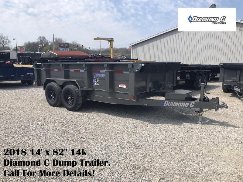"""2018 14' x 82"""" 14k Diamond C Dump Trailer. 00483"""
