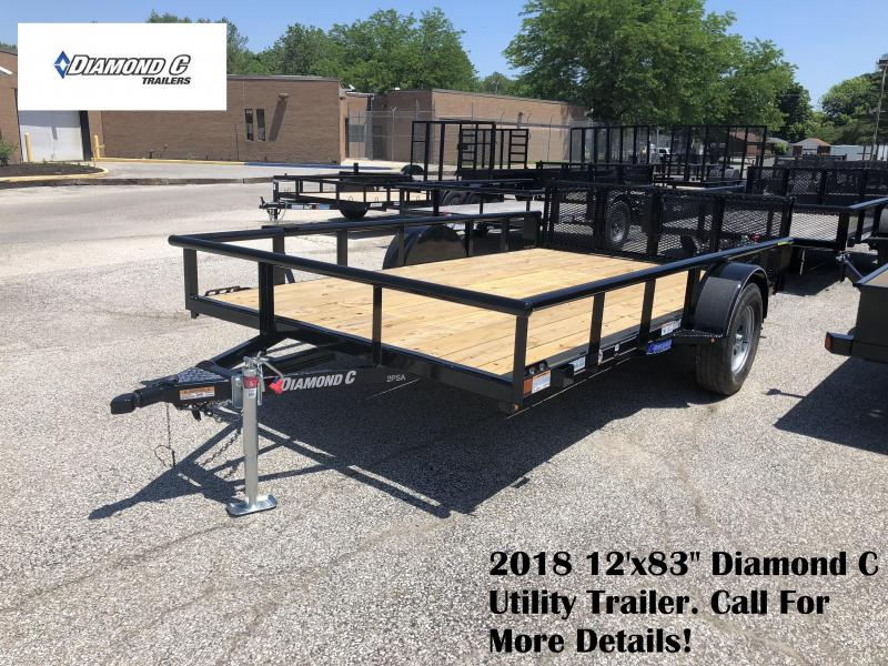 "2018 12'x83"" Diamond C Utility Trailer. 01366"