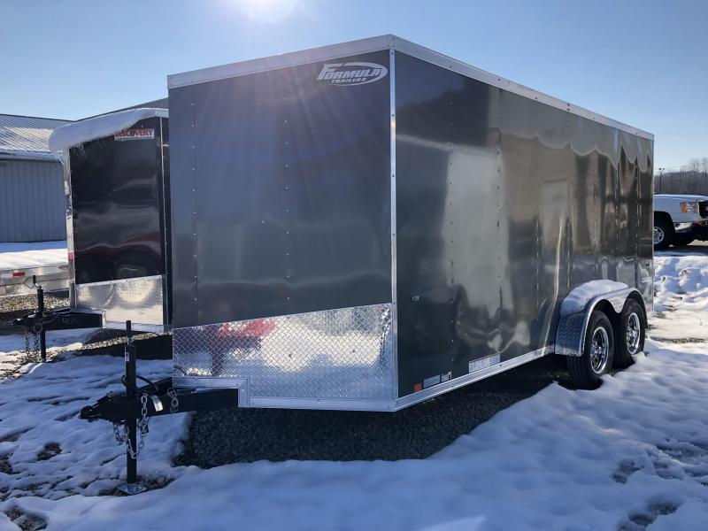 2019 7x16 7K Formula Enclosed Trailer. 00822