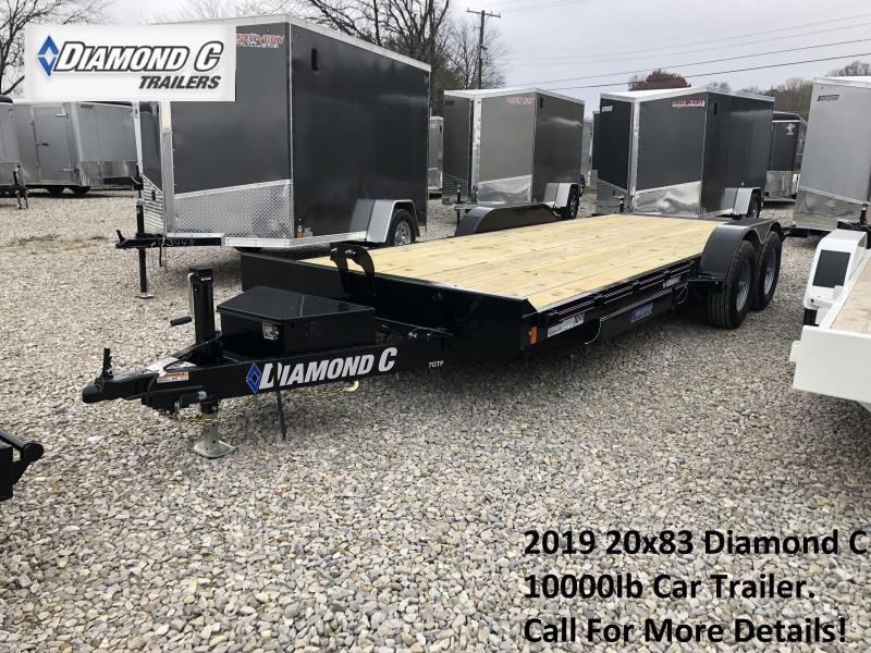 2019 20x83 10K Diamond C Car Trailer. 7539