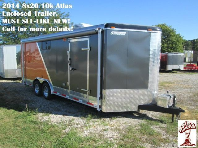 2014 8x20 10k Atlas Enclosed Trailer (MUST SEE - LIKE NEW!). 29131