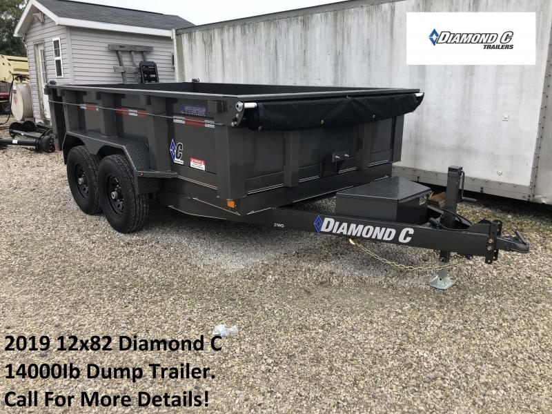 2019 12x82 14K Diamond C Dump Trailer. 5982