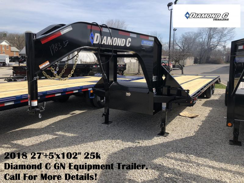 "2018 27'+5'x102"" 25k Diamond C GN Equipment Trailer. 98337"