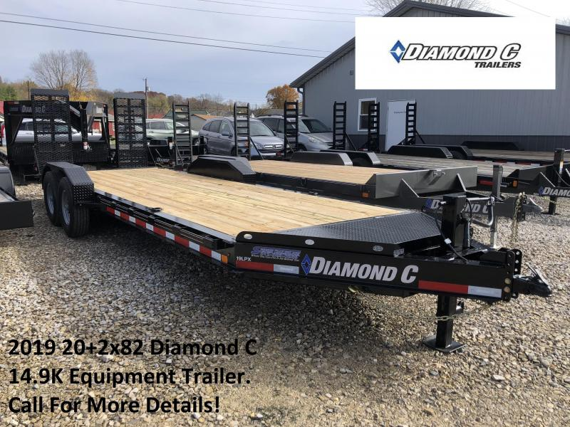 2019 20+2x82 14.9K Diamond C Equipment Trailer. 7030
