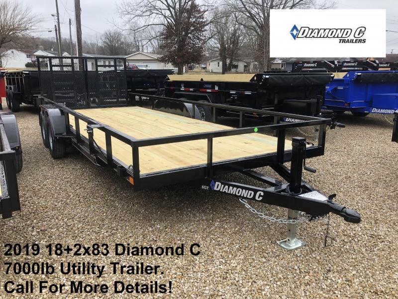 2019 18+2x83 7K Diamond C Utility Trailer. 10063