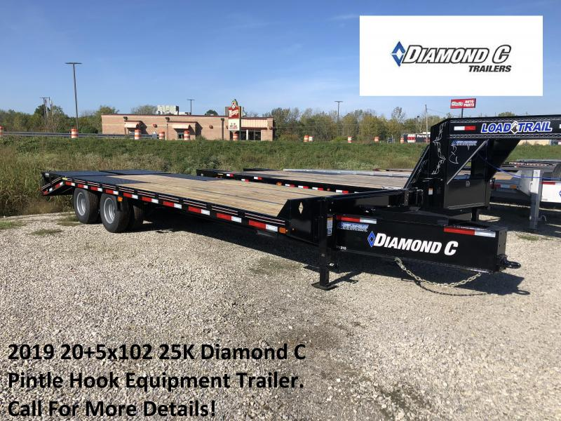 2019 20+5x102 25K Diamond C Pintle Hook Equipment Trailer. 5599
