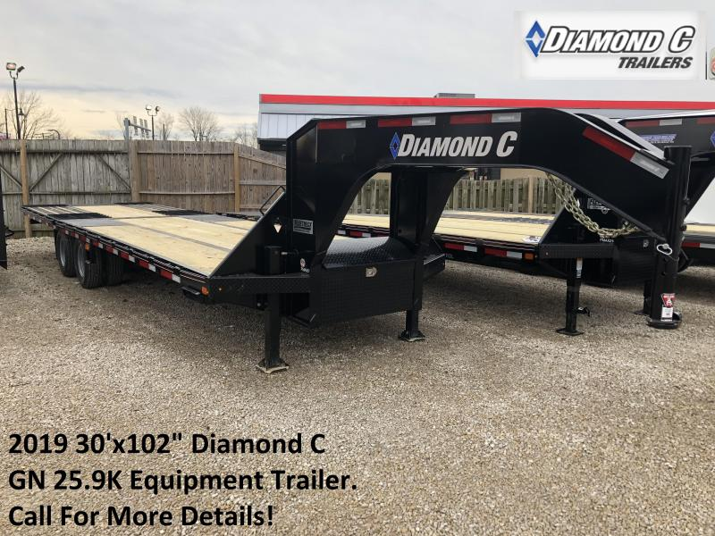 "2019 30'x102"" 25.9K Diamond C GN Equipment Trailer. 98743"