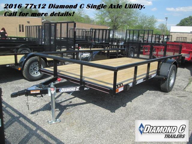 2016 77x12 Diamond C Single Axle Utility. 75622