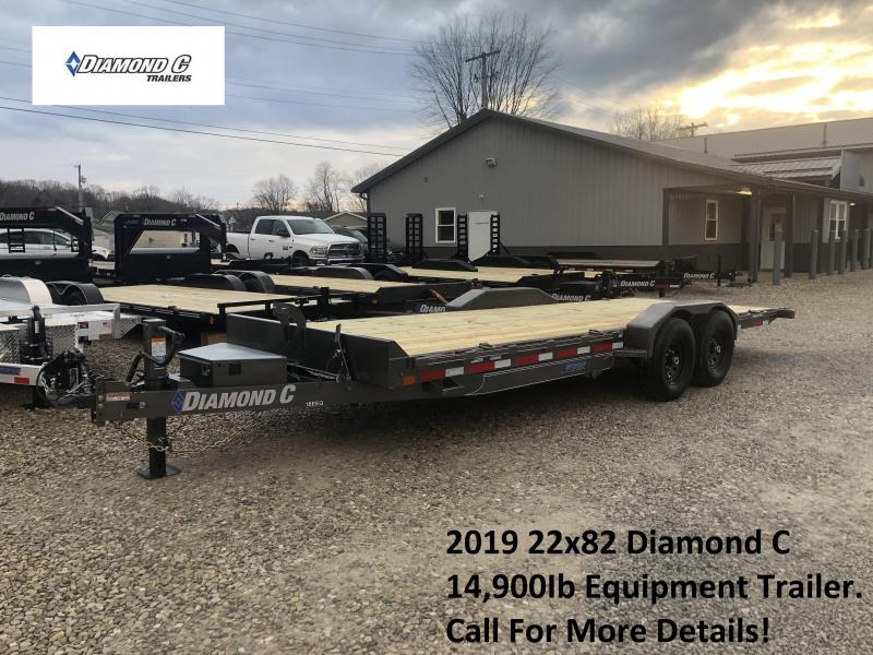 2019 22x82 14.9K Diamond C Equipment Trailer. 10359