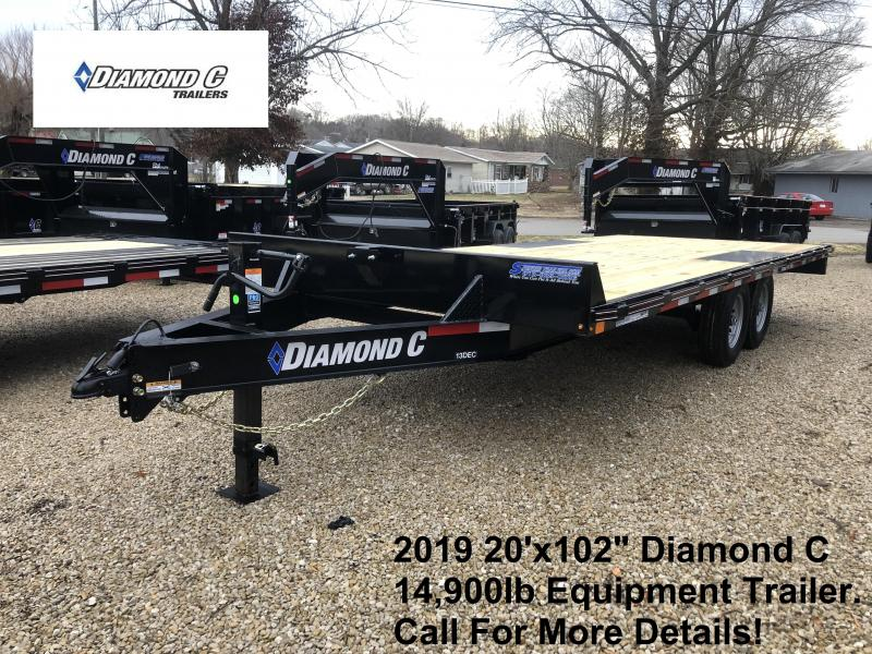"2019 20'x102"" 14.9K Diamond C Equipment Trailer. 10175"