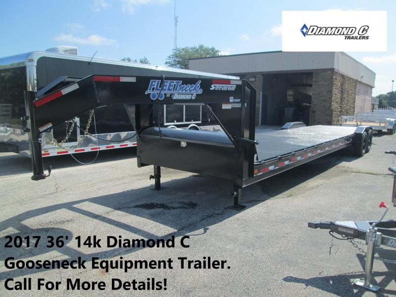 2017 36' 14k Diamond C Gooseneck Equipment Trailer. 88697