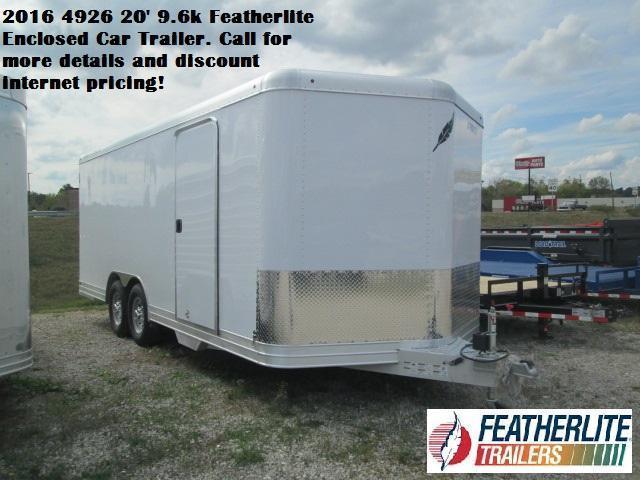 2016 4926 20' 9.6k Featherlite Enclosed Car Trailer. 140335