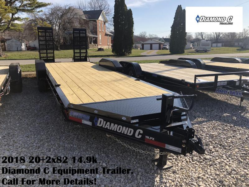 2018 20+2x82 14.9k Diamond C Equipment Trailer. 98879