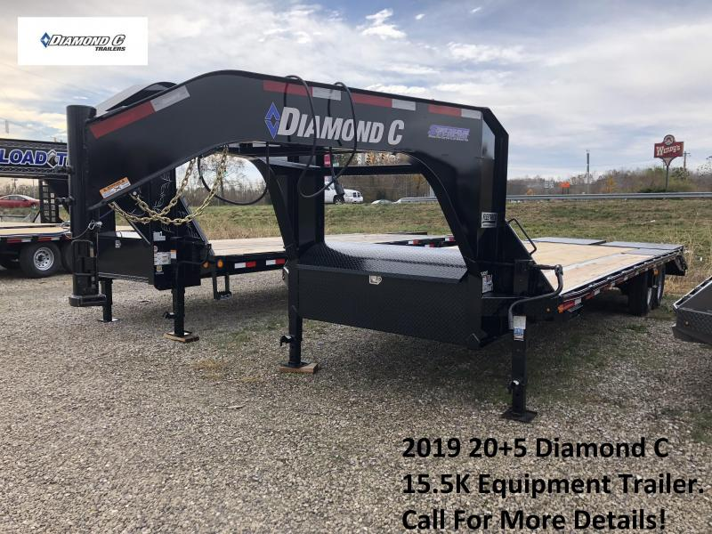 2019 20+5 15.5K Diamond C Equipment Trailer. 6375