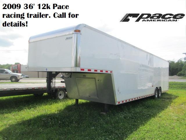 2009 36' Pace Enclosed Race Trailer.  58320