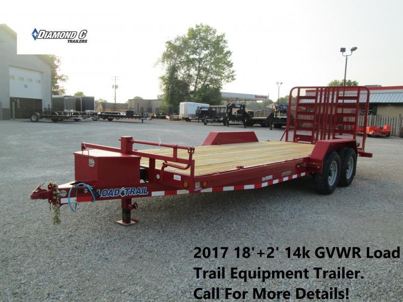 2017 18'+2' 14k GVWR Load Trail Equipment Trailer. 44078