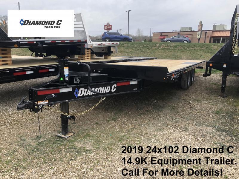 2019 24x102 14.9K Diamond C  Equipment Trailer. 11023