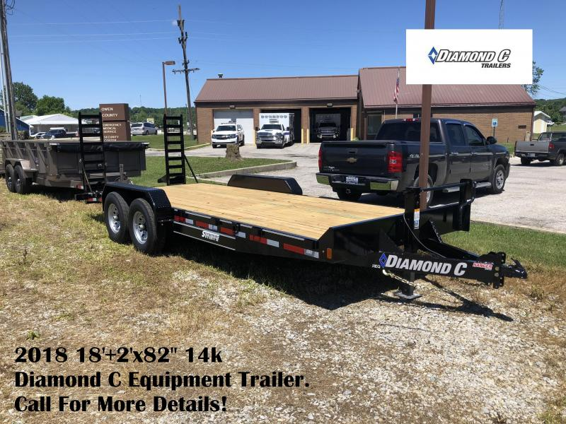 "2018 18'+2'x82"" 14k Diamond C Equipment Trailer. 2097"
