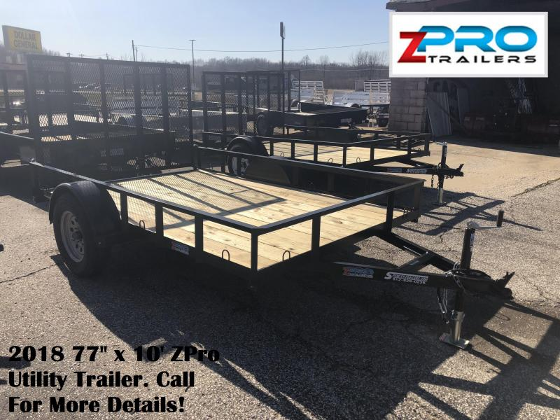 "2018 77"" x 10' ZPro Utility Trailer. 88037"