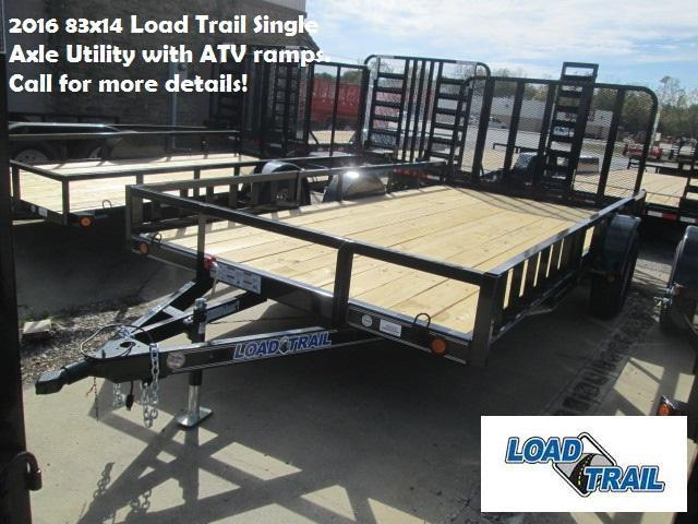 2016 83x14 Load Trail Single Axle Utility with ATV ramps. 95060