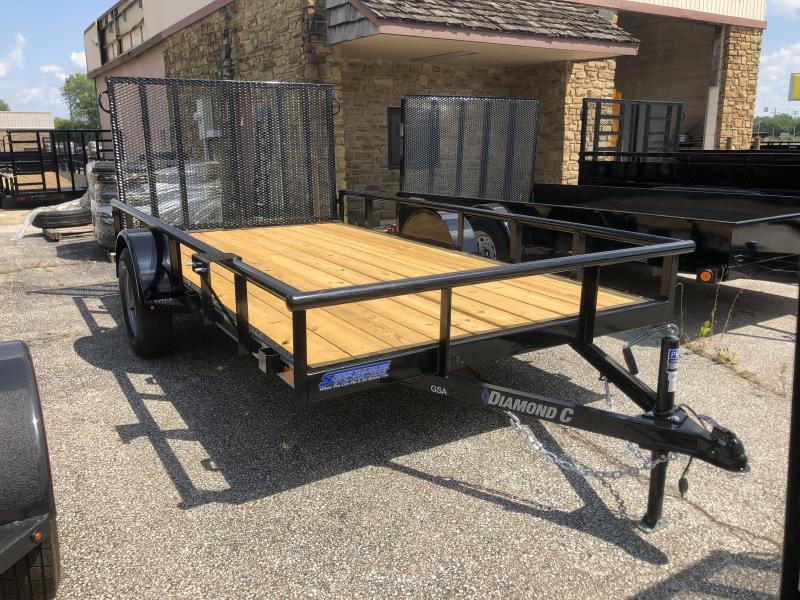 2019 12x77 Diamond C Utility Trailer. 17710