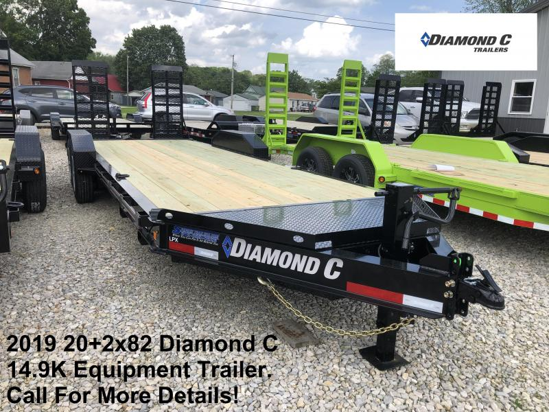2019 20+2x82 Diamond C Equipment Trailer. 14431