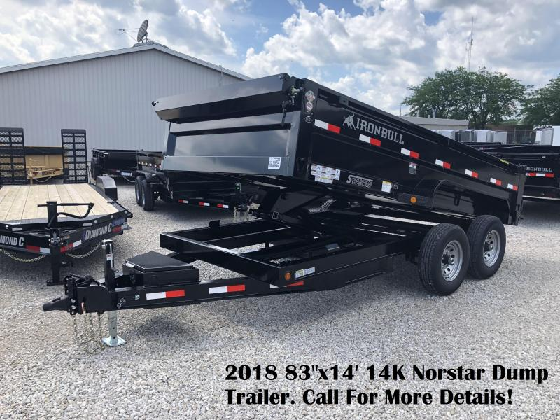 "2018 83""x14' 14K Norstar Dump Trailer. 21954"