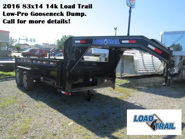 2016 83x14 14k Load Trail Low-Pro Gooseneck Dump. 93247