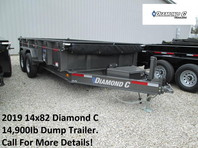 2019 14x82 14.9K Diamond C Dump Trailer. 4195