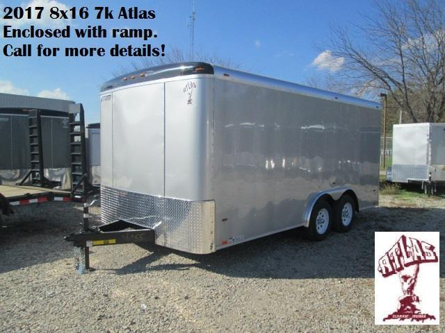 2017 8x16 7k Atlas Enclosed with ramp (silver). 36955