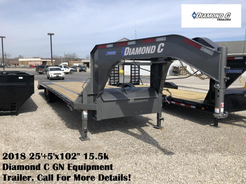 "2018 25'+5'x102"" 15.5k Diamond C GN Equipment Trailer. 96943"