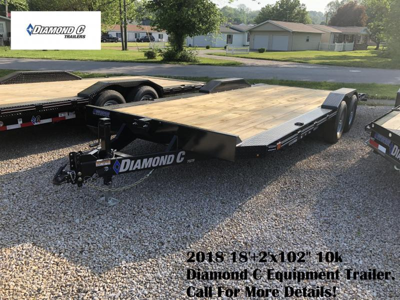 "2018 18'+2'x102"" 10k Diamond C Equipment Trailer. 00891"