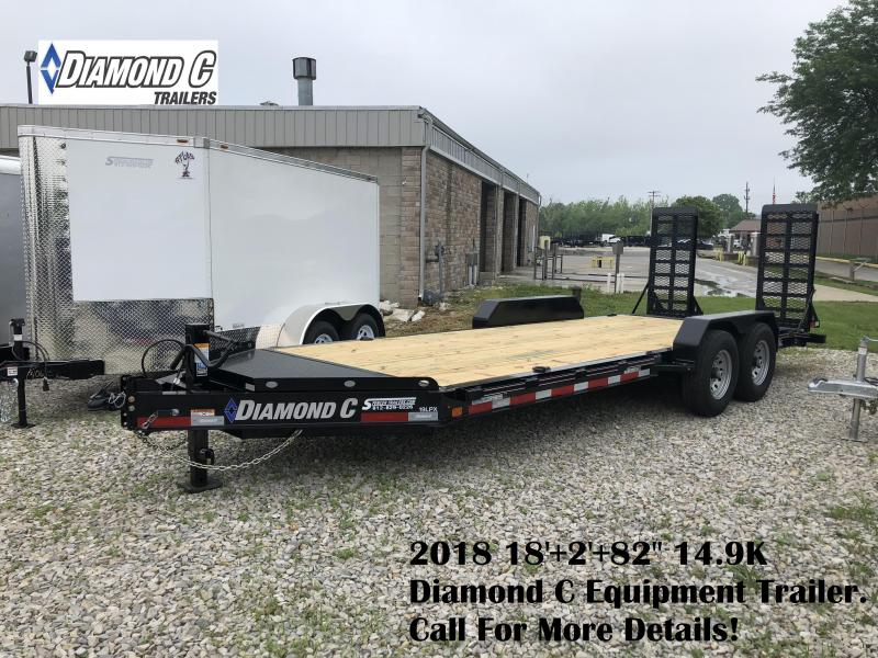"2018 18'+2'+82"" 14.9K Diamond C Equipment Trailer. 1705"