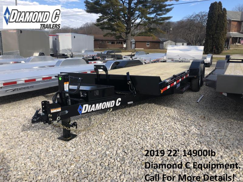 2019 22' 14.9K Diamond C Equipment Trailer. 8918