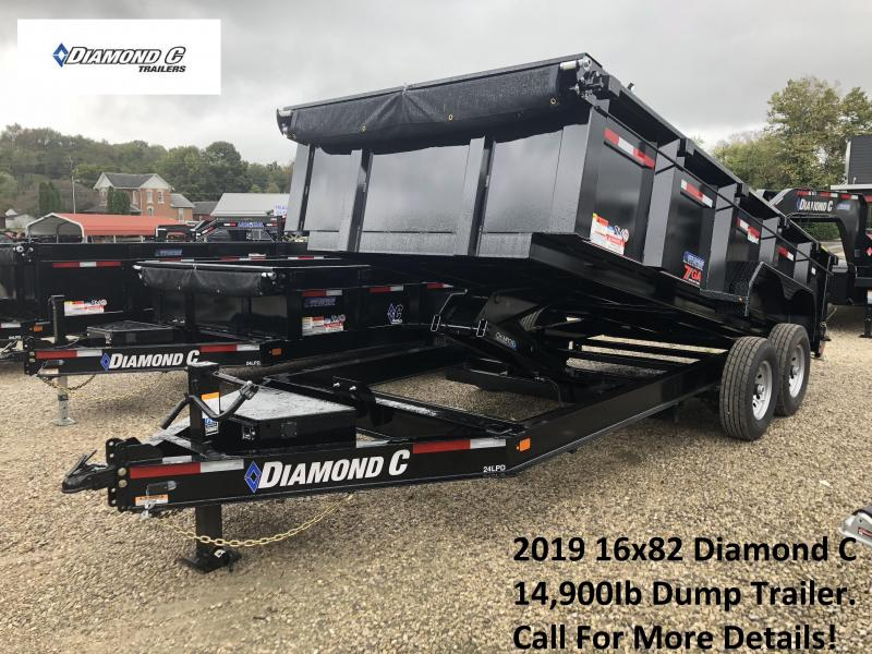 2019 16x82 14.9K Diamond C Dump Trailer. 5825