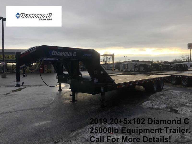 2019 20+5x102 25K Diamond Engineered Beam Equipment Trailer. 9246
