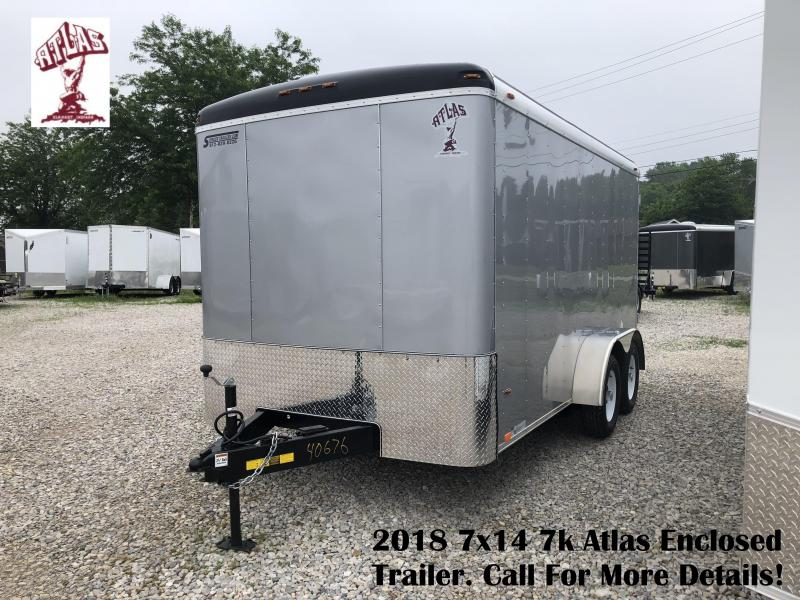 2018 7x14 7k Atlas Enclosed Trailer. 40676