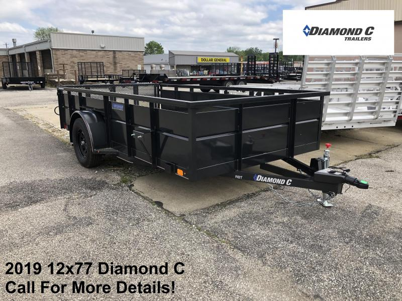 2019 12x77 Diamond C Utility Trailer. 14401