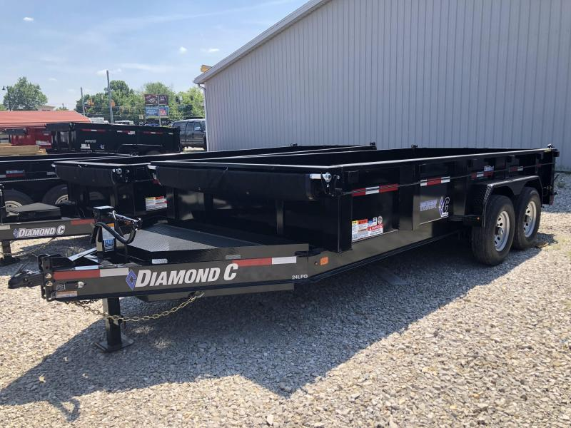 "2018 16'x82"" 14.9k Diamond C Dump Trailer. 00564"